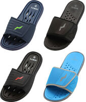 NORTY Young Men's Drainage Slide Sandal Shoe Beach Pool Shower RUNS 1 SIZE SMALL