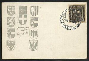 1926 NIBELUNGEN NR 488 AUF KARTE OLYMPISCHER FACKELLAUF 29-7-1936 (1327)