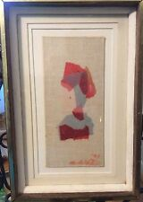 Collage Framed under glass  by Milton Goldstein - 1993- Artist note on  back