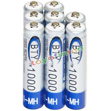 8x AAA battery batteries Bulk Nickel Hydride Rechargeable NI-MH 1000mAh 1.2V BTY