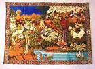 Vintage Tapestry / Area Rug w/ Parrots + Birds - Rainforest 40x55 - Lebanon