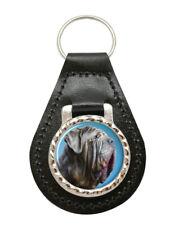 Mastino Napoletano (Neapolitan Mastiff) Leather Key Fob