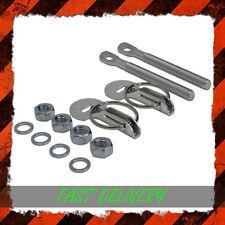 Universal Bonnet Boot Hood Clips Pin Kit Aluminium Pair Slide Race Rally Alloy