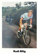 CYCLISME carte cycliste RUDI ALTIG équipe SALVARANI