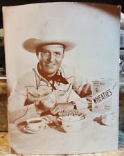 GENE AUTRY WESTERN 1940's VINTAGE Wheaties photo - print - poster RARE