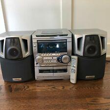 AIWA CX-NAJ20U AM/FM Stereo 3 CD Changer AM FM Radio w/ Speakers & Remote