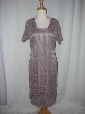 Vintage Dress  M Lace Purple Lavender  and Gold Lace Shift Medium