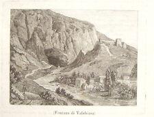 1860-FRANCIA-FONTANA DI VALCHIUSA-Fontaine-de-Vaucluse -VEDUTA-ORIGINALE