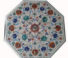 "16"" marble corner table Top inlay art home room decor"