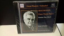 ARTUR SCHNABEL - BEETHOVEN PIANO WORKS VOL 4 CD NAXOS HISTORICAL