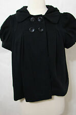 JUICY COUTURE Black Puff Short Sleeve Hooded Baby Doll Crop Jacket NWT S $198