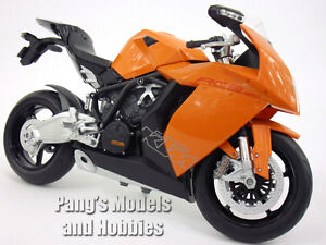 KTM 1190 RC8 (Orange) 1/10 Scale Diecast Metal Model Motorcycle by Welly