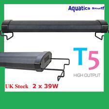 "T5 Aquarium Light 36"" Fish tank Overhead Twin tubes 90cm 100cm"