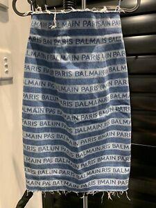 Balmain Denim skirt high waisted XS