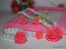 Kids Baby Girl's bijoux Jewel Party Set Collier Boucles d'oreilles bracelet Rakhi Cadeau
