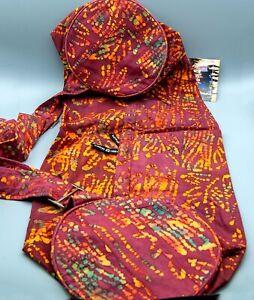 Hugger Mugger Batik Yoga Mat Bag, Red Willow Design, Brand New!!