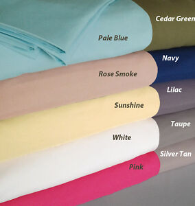 Natural Comfort Microfiber Solid Color 4 piece Sheet Set King Queen Size
