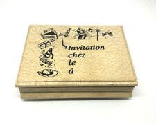 Tampon encre Aladine bois - Invitation goûter anniversaire décoration