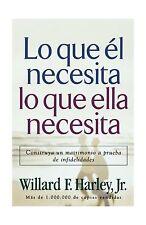 Lo Que El Necesita Lo Que Ella Necesita/ His Needs Her Needs: C... Free Shipping
