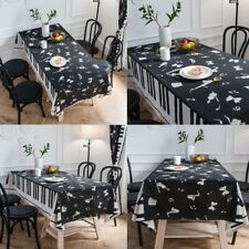 Black White Tablecloth Music Piano Pattern Dining Kitchen Table Cloth Home Decor