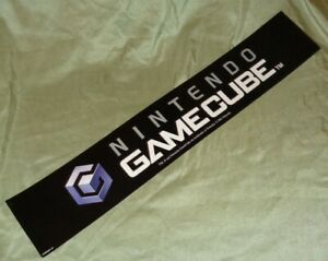 """Nintendo GameCube Vintage 2001 Store Display Sign Ad Poster Banner 30""""x5"""" RARE"""