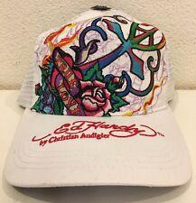 Ed Hardy Women's Trucker Hat Cap True Love White Roses NEW