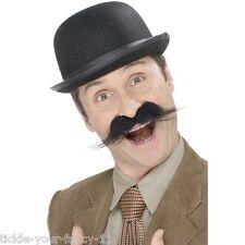 Mens Investigator Handlebar Moustache Accessory Tash Old England Posh Detective