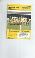 Chesterfield Fourth Division Football Programmes