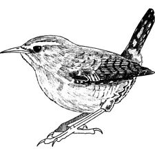 'Wren' Rubber Stamp (RS012028)