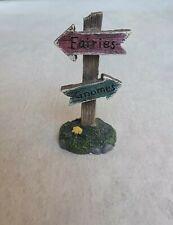 Rustic Fairies Gnomes Arrow Sign Fairy Elf Gnome Garden Enchanted Corner New W T