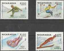 Timbres Sports d'hiver JO Nicaragua 1232/5 ** lot 6061