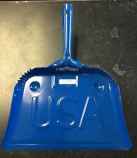 Steel Dust Pan- Blue with USA stamped on it.