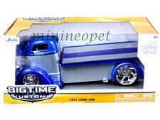 JADA BIGTIME 96959 1947 47 FORD COE FLATBED 1/24 DIECAST MODEL CAR BLUE / SILVER