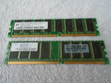 2 x HP 326667-041 256MB PC3200 DDR400MHz non-ECC Unbuffered CL3 184-Pin DIMM