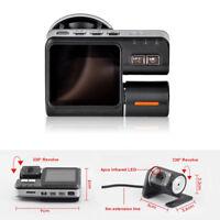 HD Car DVR Dash Cam Video Recorder Kit With Rear View Camera Night Vision Sensor