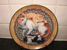 CAT   PLATE -   SNUG ON A RUG    -     FRANKLIN MINT