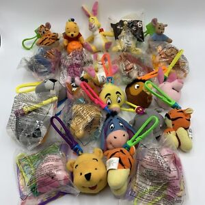 1999 Disney WINNIE THE POOH McDonalds Happy Meal Toys with Clips Set Lot of 24