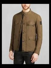 Belstaff Leighwood Mens Jacket/Coat Sz 48 M/L Medium/Large Wax Cotton 2 Way Zip