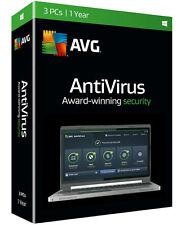AVG Antivirus 2016 3-PC - 1 Year. New Retail Box. Free 2017 Upgrade!