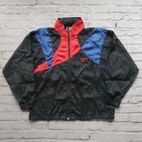 Vintage 90s Reebok Colorblock Windbreaker Track Jacket Size M