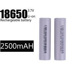 Rechargeable Li-ion Battery Long life High Quality 2Pcs 2500mAh Brc 3.7v 18650