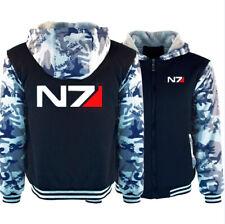HOT Game Mass Effect N7 Hoodie Cosplay Winter Fleece Coat Warm Jacket Sweatshirt