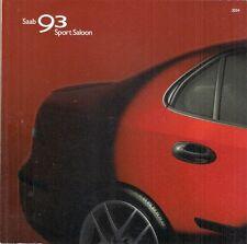 Saab 9-3 Saloon 2003-04 UK Market Sales Brochure Aero Vector Arc Linear