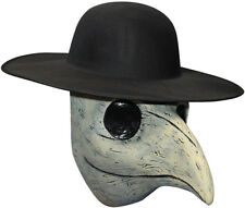 PLAGUE DOCTOR LATEX BEAKED HALLOWEEN HORROR FACE MASK - NO HAT