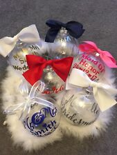 Christmas Wedding Baubles Personalised Wedding Favours  Bridesmaids Gift Bauble