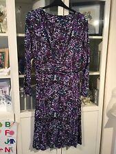 """415 Papaya Plus Sz 18 Purple Mix 45""""Long Soft Jersey Stretch Dress"""
