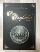Mexico Peso Resplandor Album Collector Folder Black Edition Coleccionador Pesos