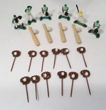 Vintage Wilton Baseball Cake Topper Set Cupcake 22 Pieces 1981 Sports Theme