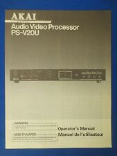 AKAI PS-V20U OWNER OPERATOR MANUAL ORIGINAL FACTORY ISSUE THE REAL THING