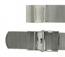 Wrist Watch Band for Skagen 530lttm Mesh Stainless Steel Grey Spare Band 20 mm